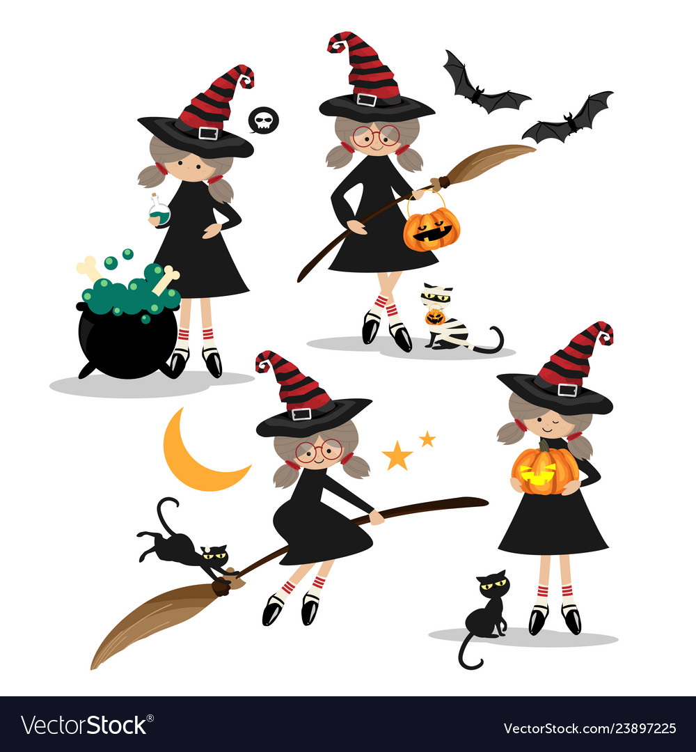 Halloween little witches collection