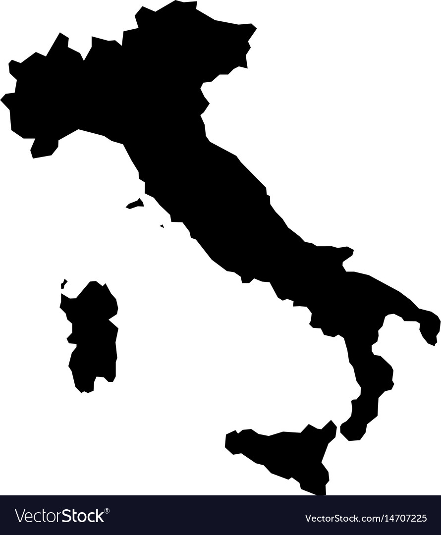 High detailed map - italy vector image