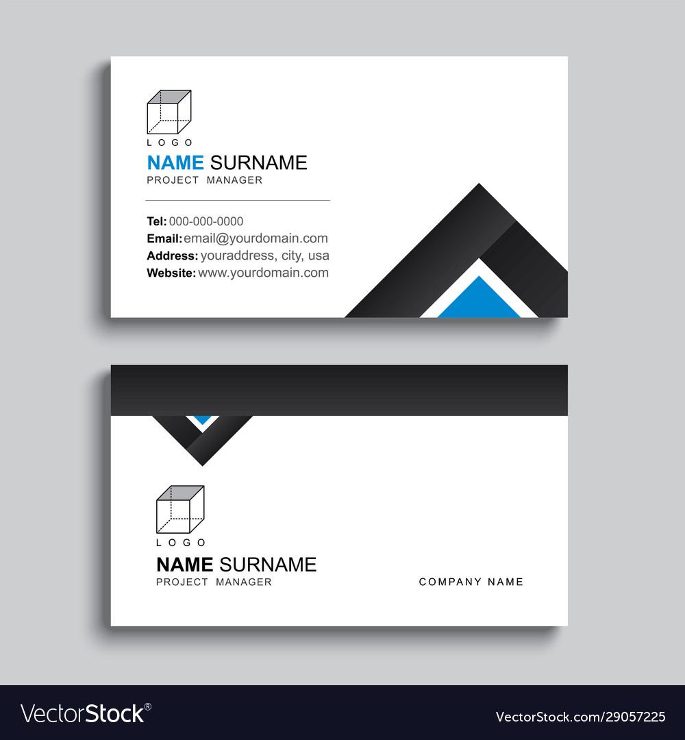Minimal business card print template design black