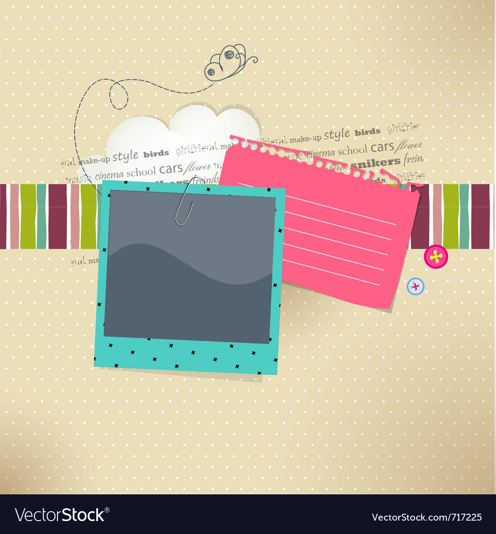 Photo and text vector image