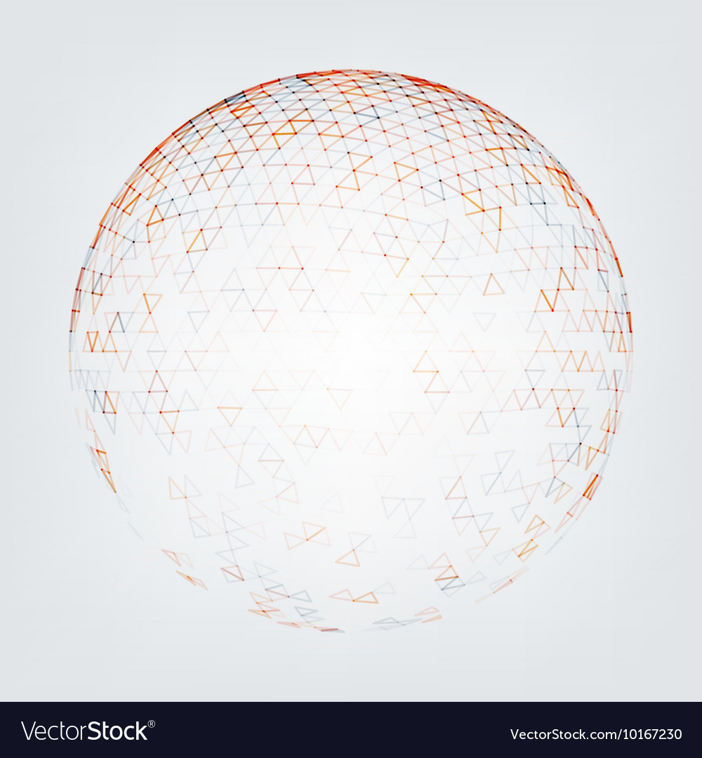 Abstract Low Poly Sphere