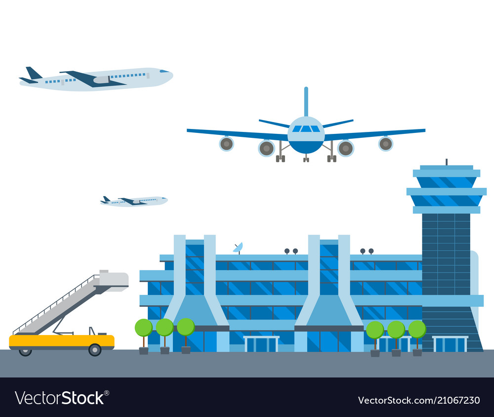Aviation airport airline graphic airplane