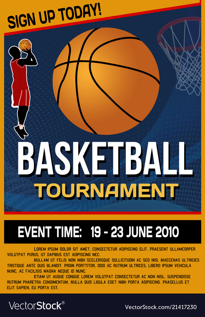 Basketball tournament flyer or poster