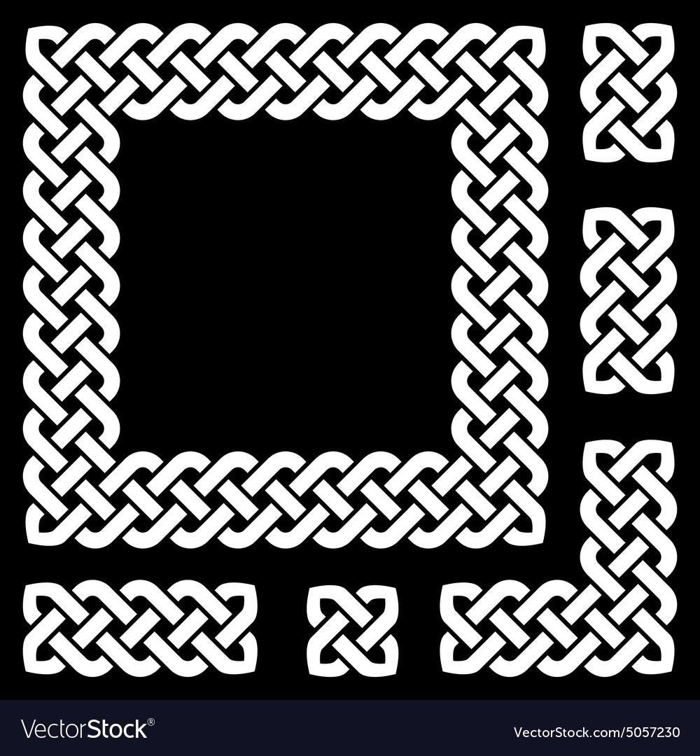 Celtic knot frame and design elements