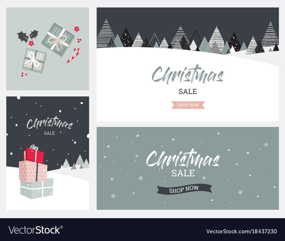 Christmas winter landscape background christmas