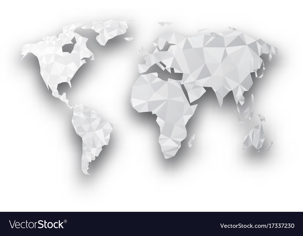 Gray geometric abstract world map royalty free vector image gray geometric abstract world map vector image gumiabroncs Images