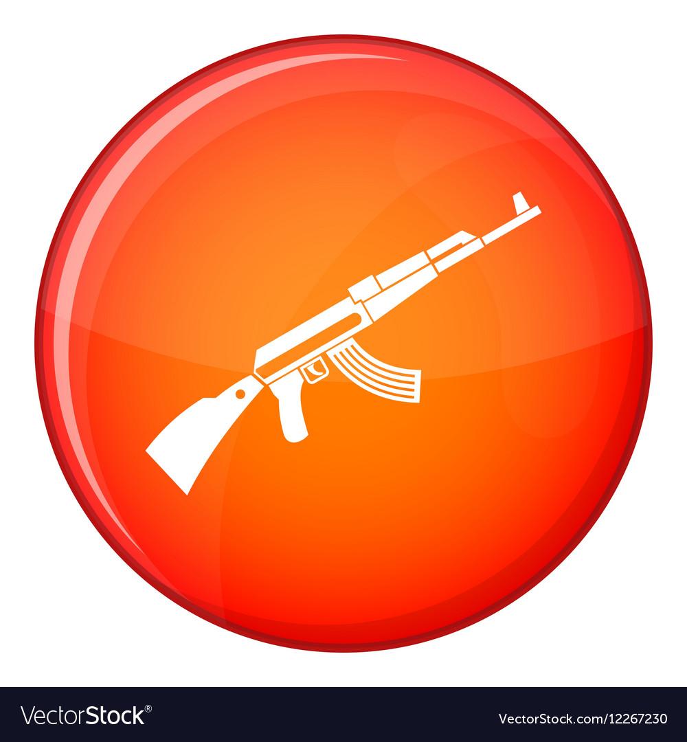 Kalashnikov machine icon flat style vector image
