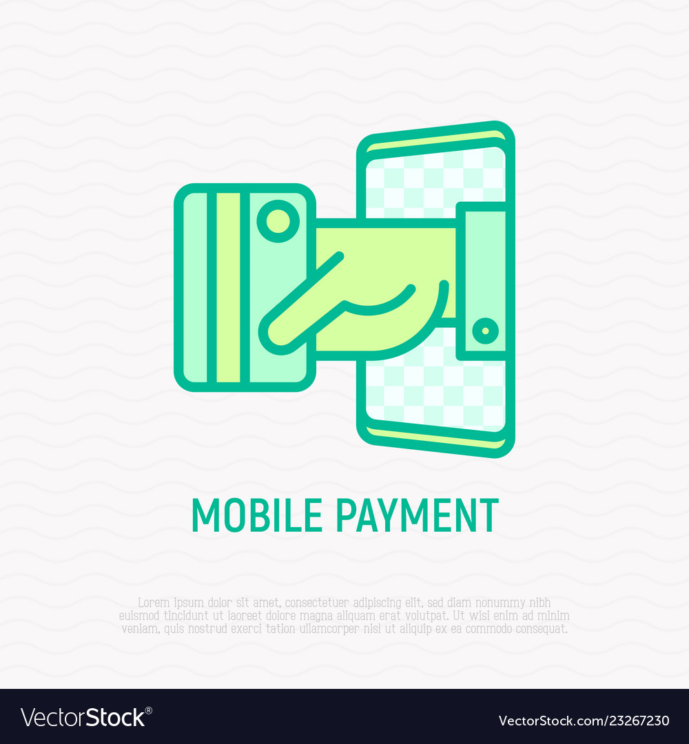 Mobile payment hand puts out credit card