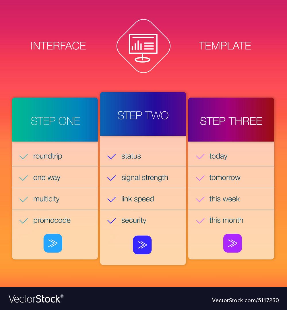 Modern user interface screen login template for