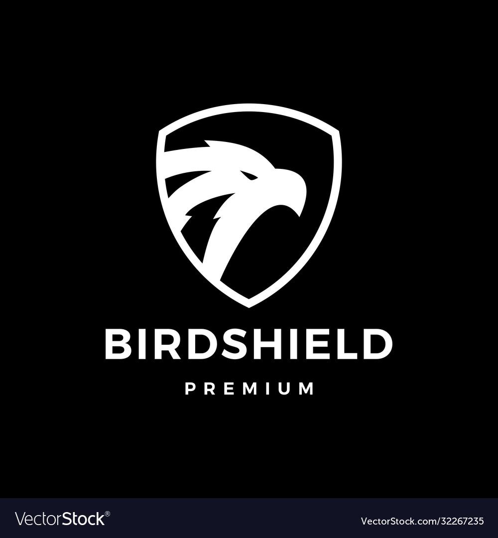 Bird shield eagle hawk logo icon