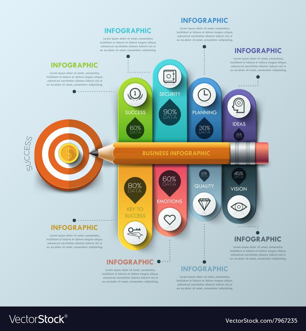 Business concept Pen and bubble speech arrow Vector Image