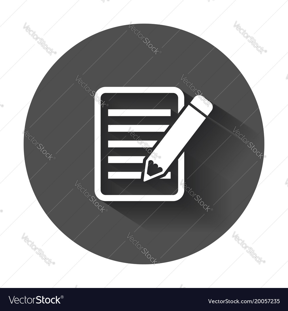 Document with pencil pictogram icon simple flat