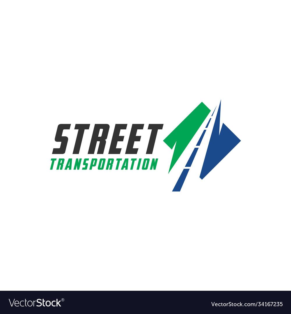 Modern road transport logo