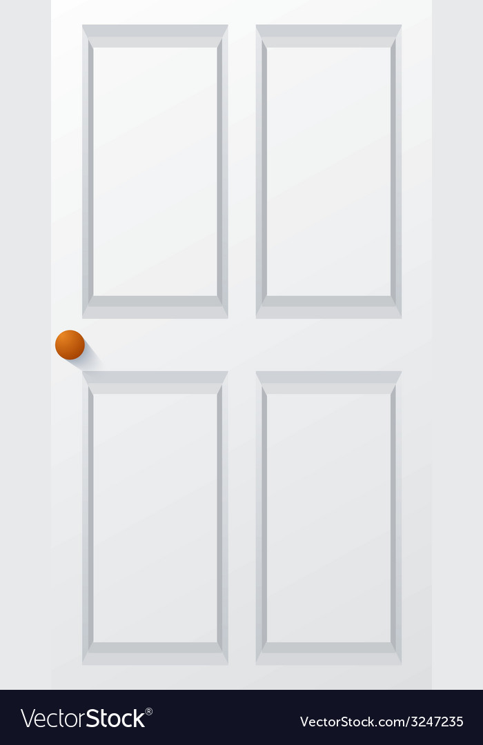 Modern white door vector image