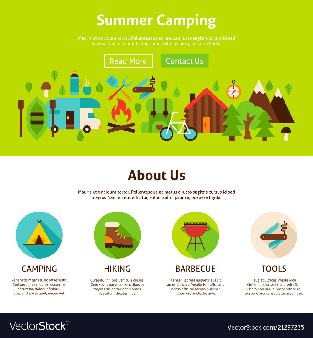 Summer camping web design