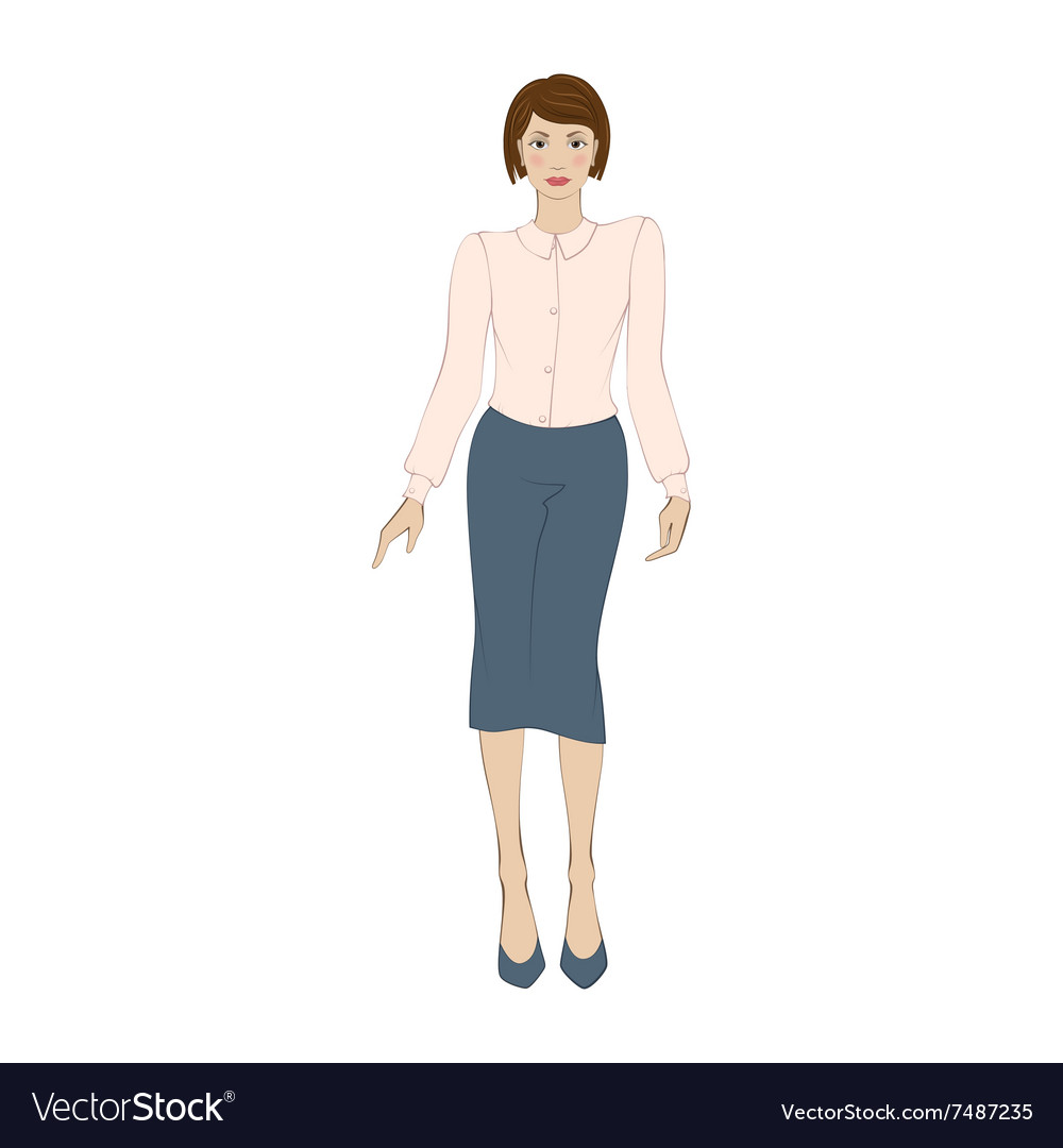 Office Clothes Flat Icon Vector Image