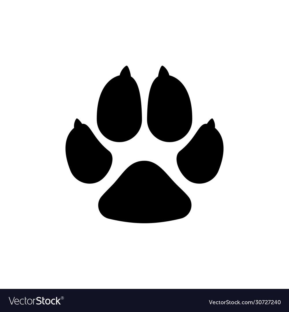 Dogs paw dog footprint flat icon