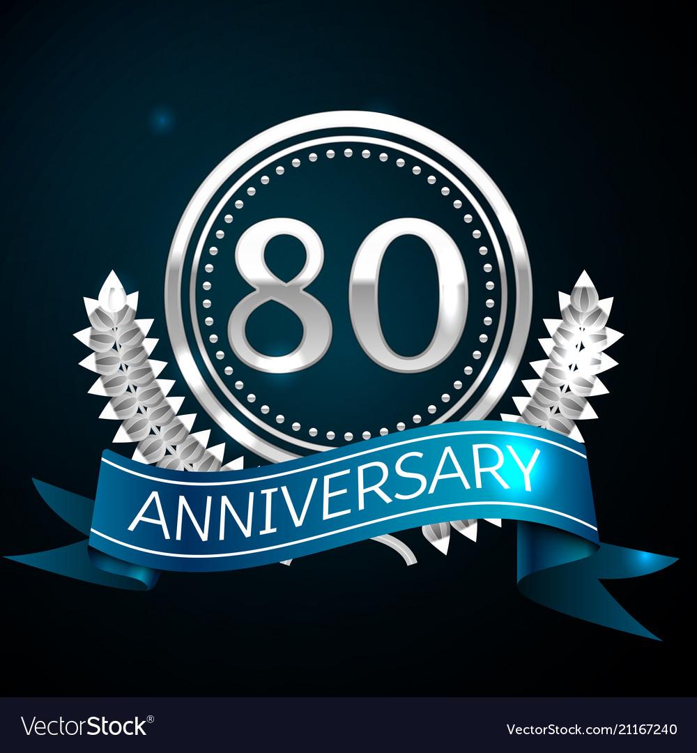 Eighty years anniversary celebration design