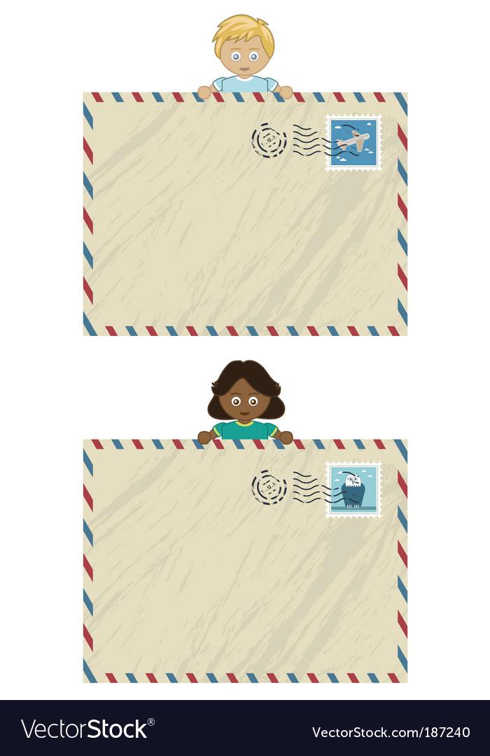 Kids airmail