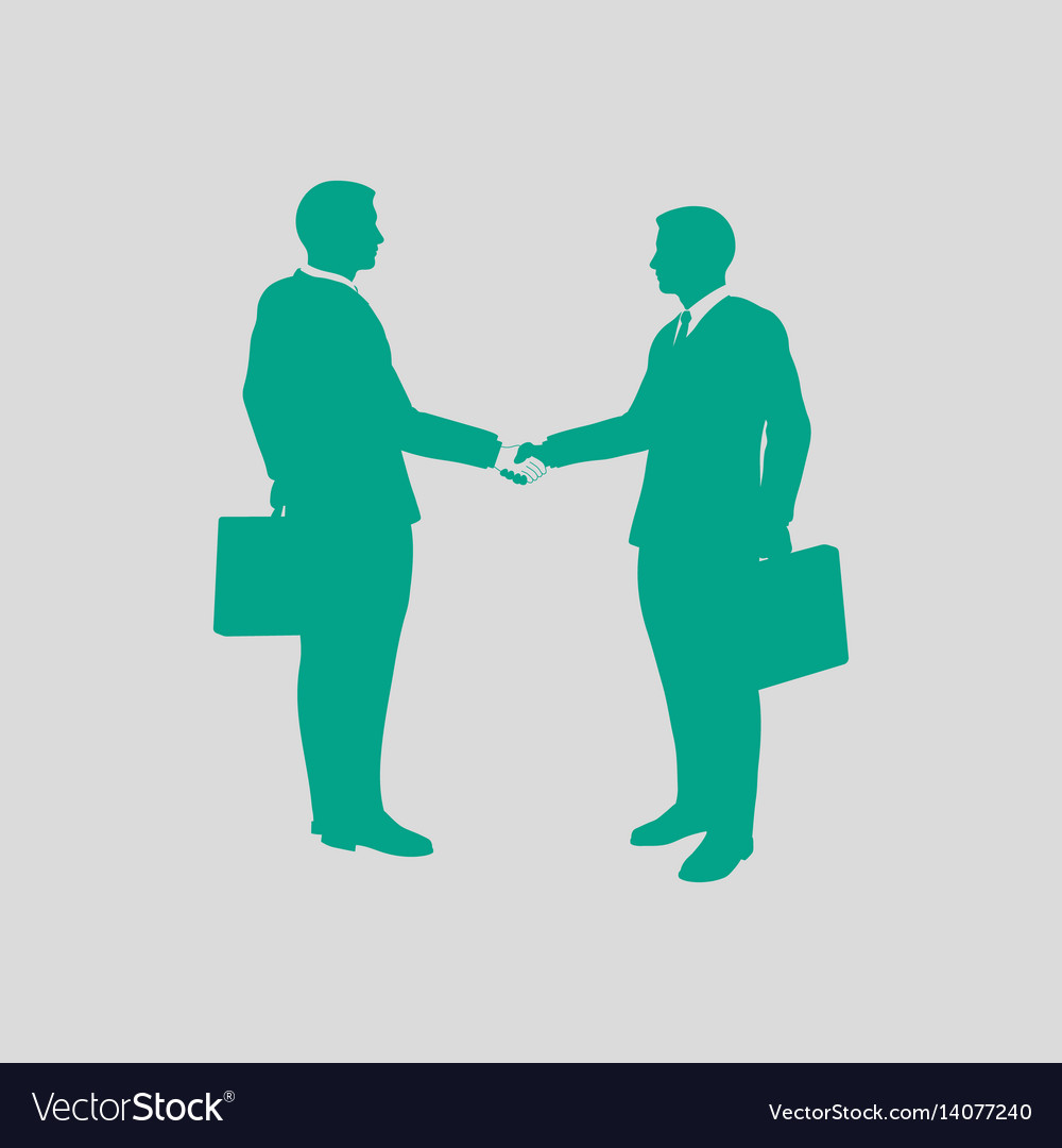 Meeting businessmen icon vector image