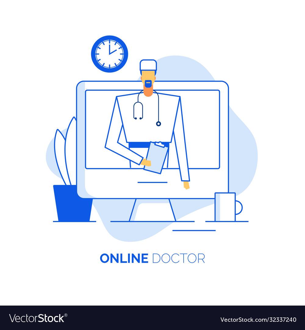 Online healthcare concept doctor surgeon