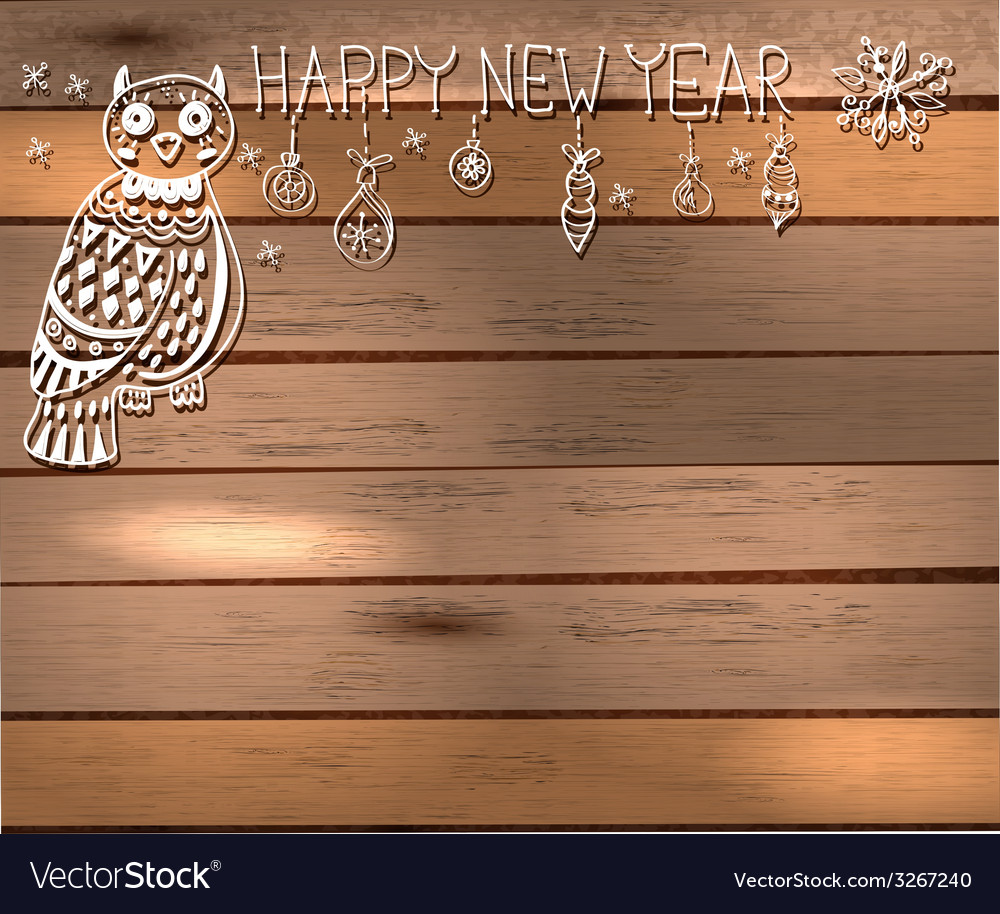 Owl and decorations for beautiful Holiday design