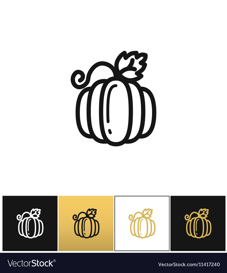Pumpkin for thanksgiving or gourd icon vector image