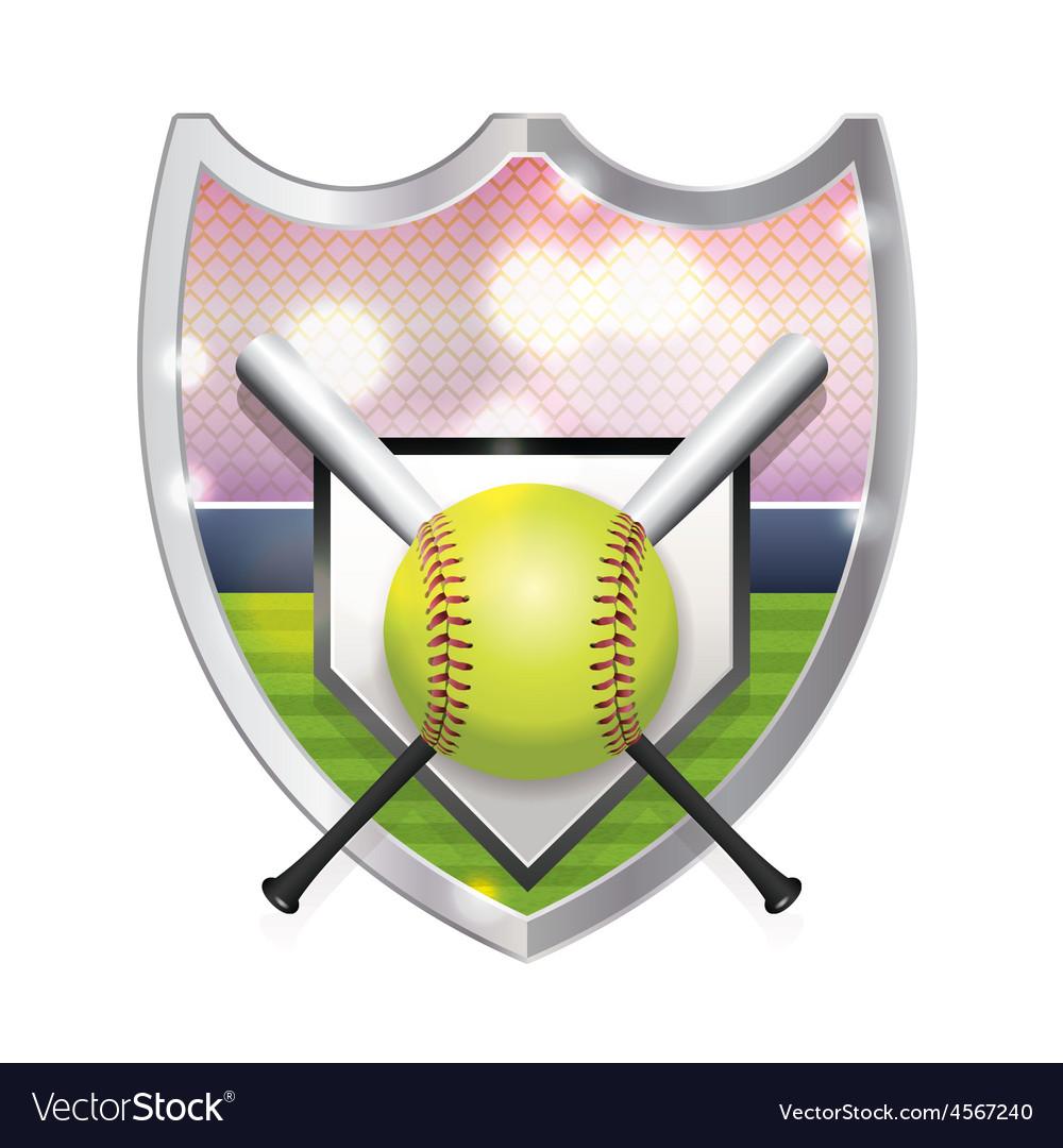 Softball Badge Emblem