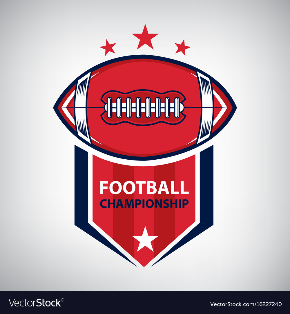 Sport american football logo american style vector