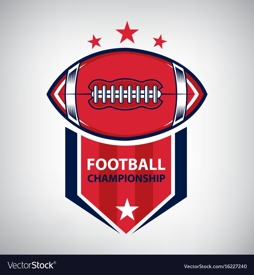 Sport american football logo american style