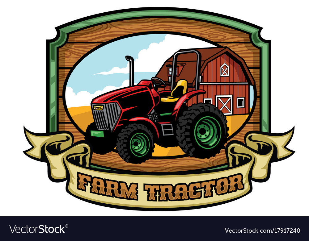 Tractor and farming yard