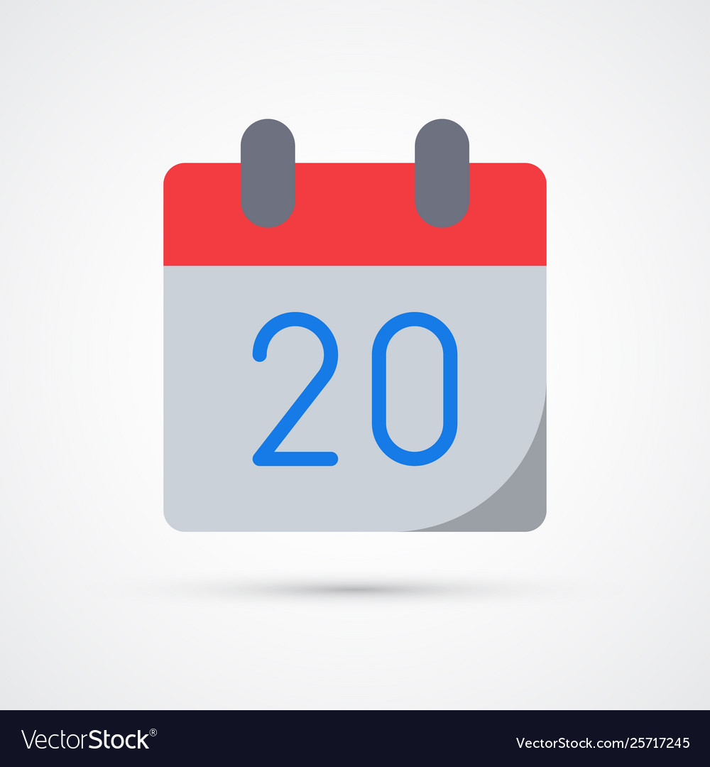 Calendar date trendy symbol