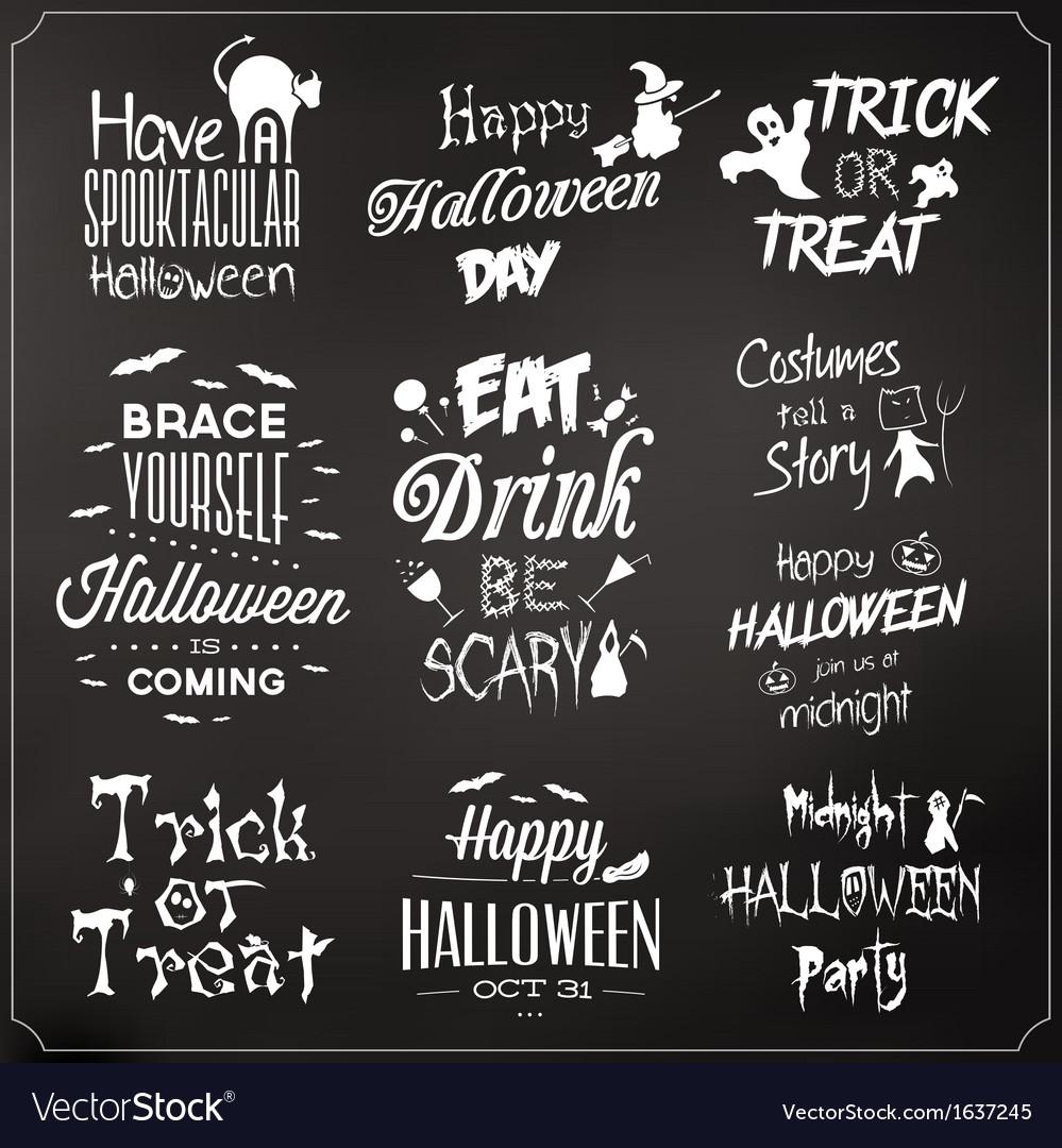 Collection Of Typographic Halloween Design
