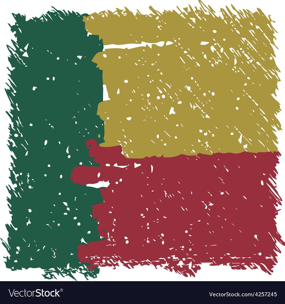 Flag of Benin handmade square shape
