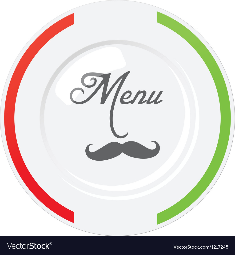 Funny italian restaurant menu design template