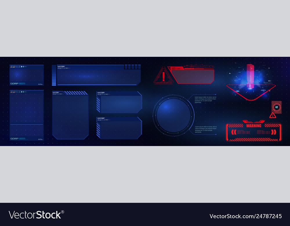 Hud ui gui futuristic user interface screen fram