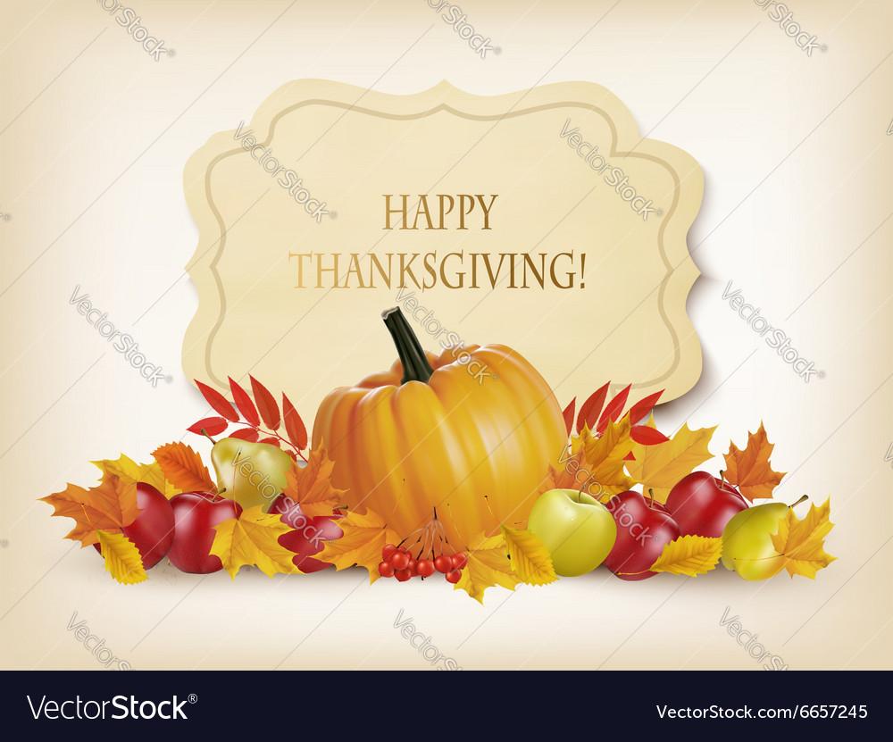 Retro Happy Thanksgiving Background