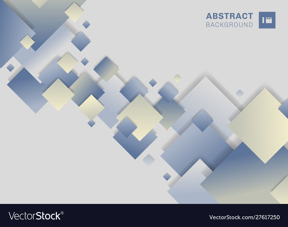 Abstract blue geometric squares overlapping on