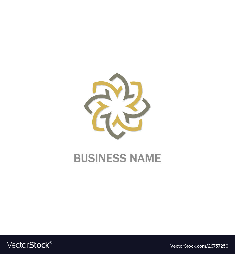 Abstract flower ornament geometry logo