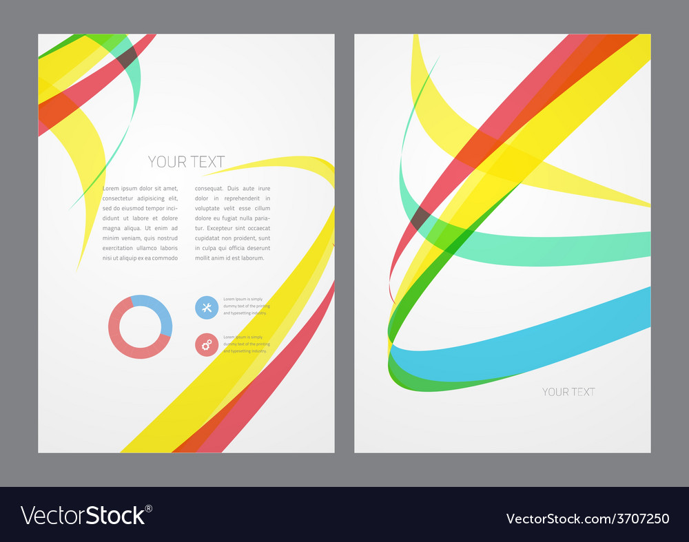 Abstract modern bright multicolored flyer
