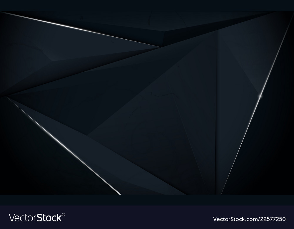 Abstract Polygonal Luxury Dark Blue Background