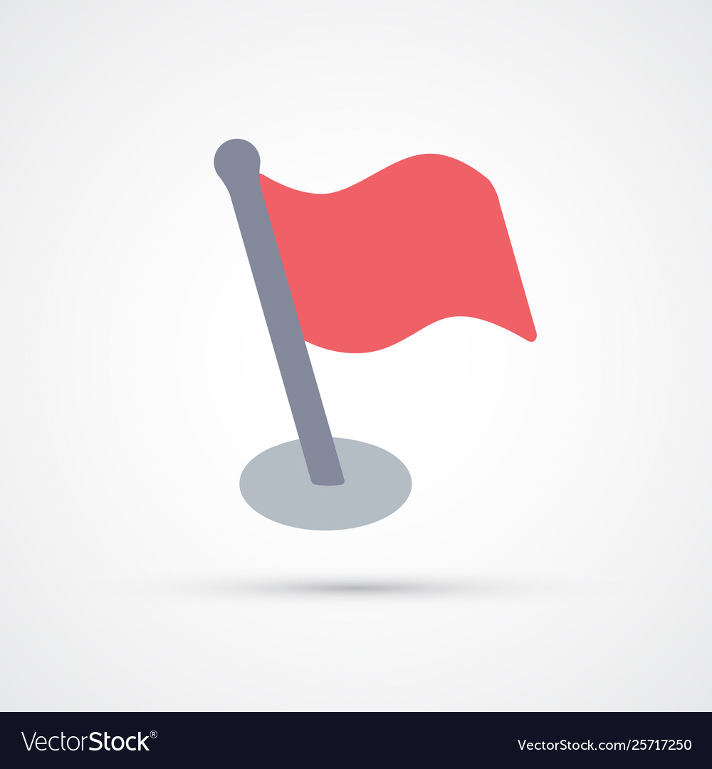 Colored red flag trendy symbol
