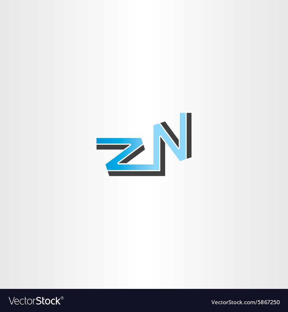 Letter z and n logo blue