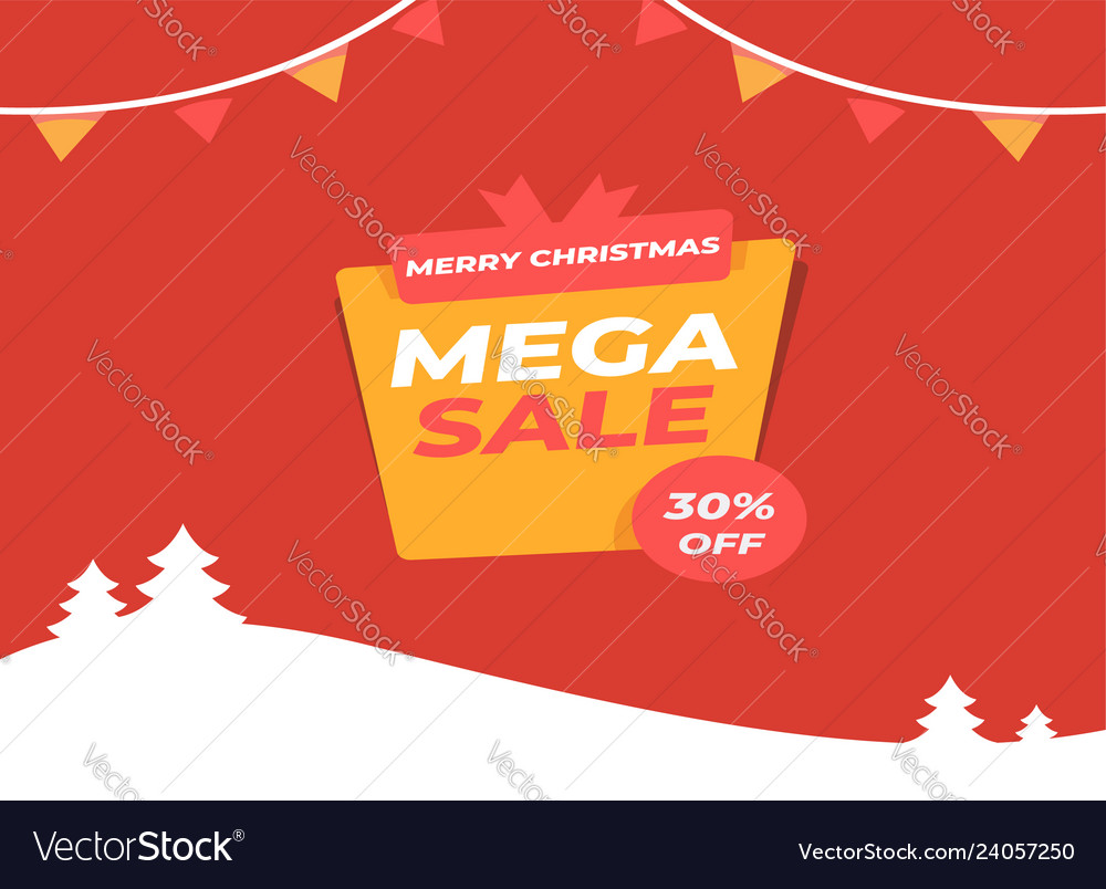 Merry christmas sale discount offer greeting card
