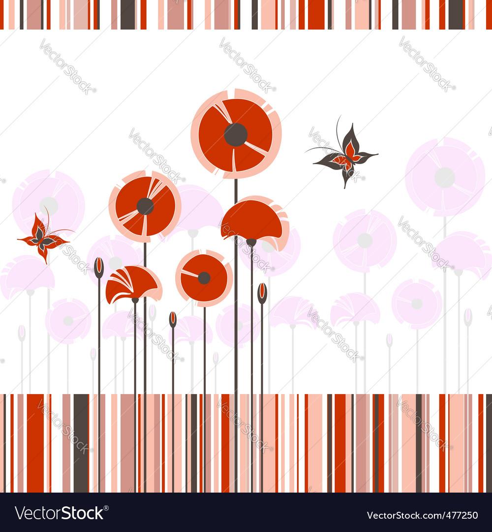 Poppy background vector image