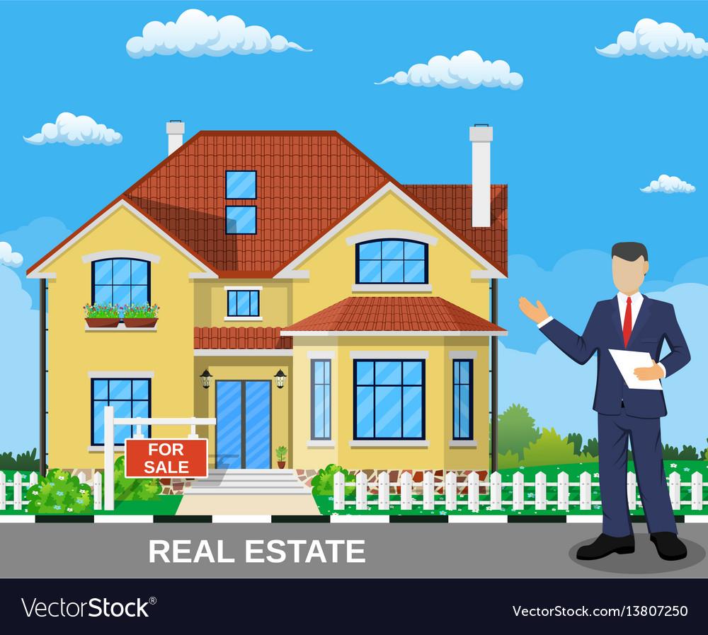 Real estate broker at work