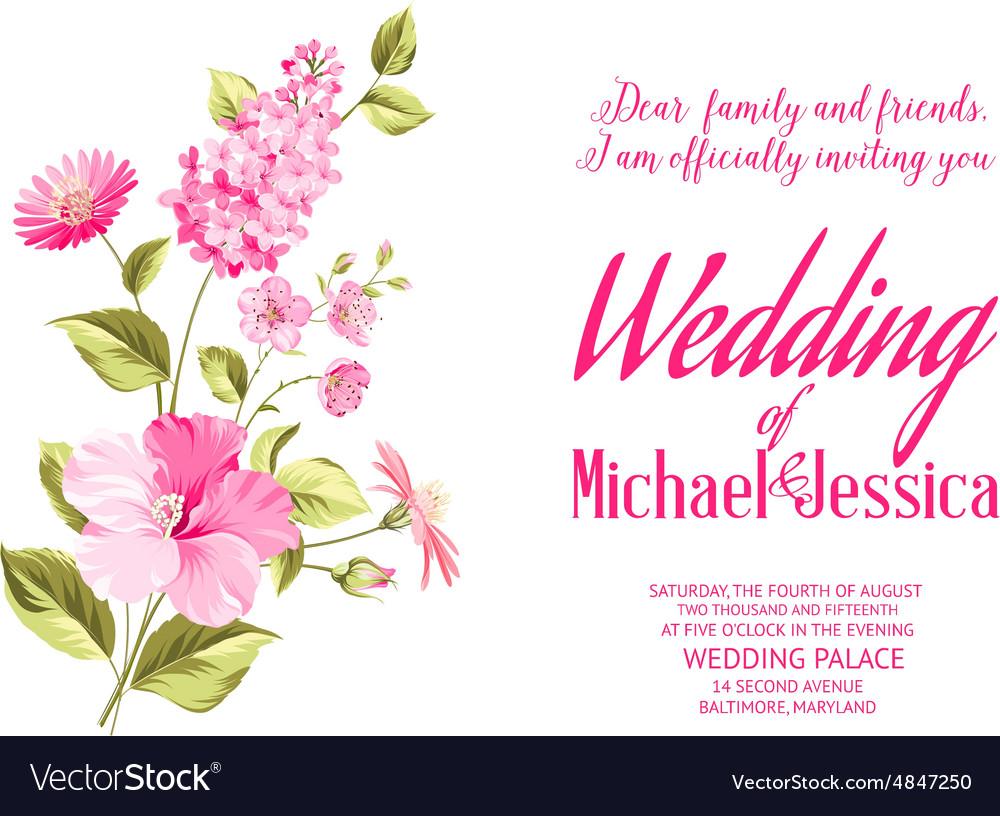 Wedding Invitation Flower Background
