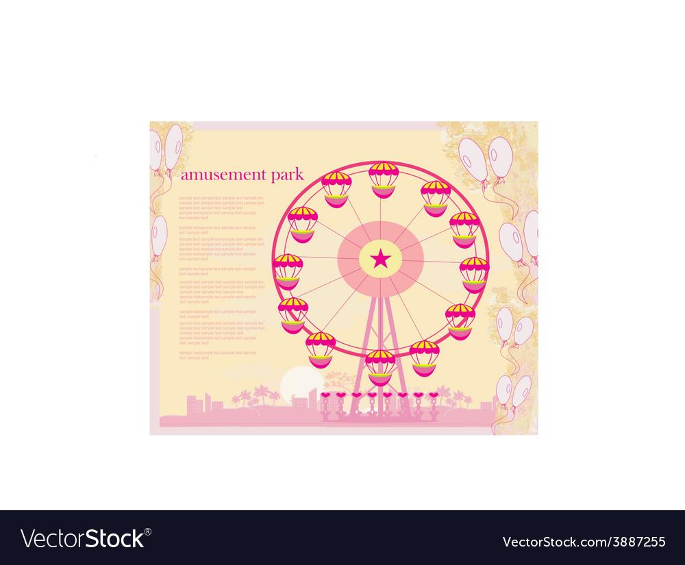 Abstract card - amusement park
