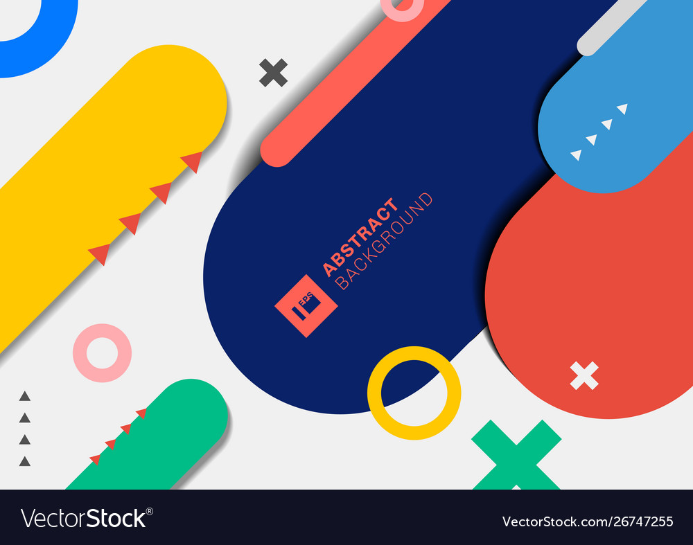 Abstract modern geometric colorful rounded line