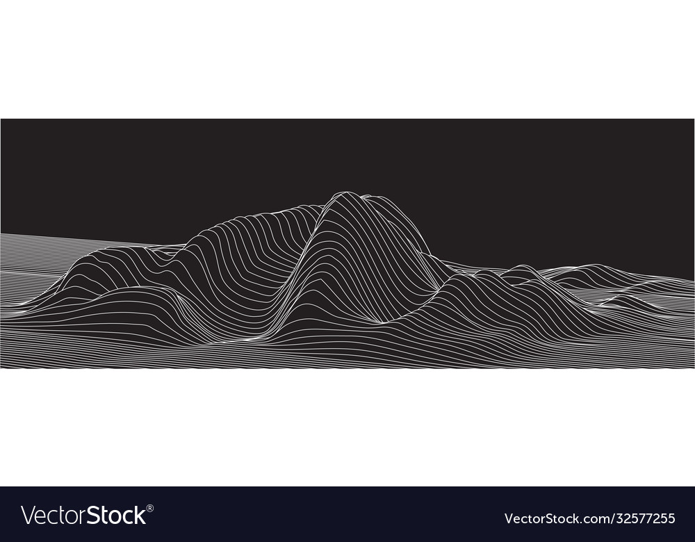 Abstract surface landscape made lines